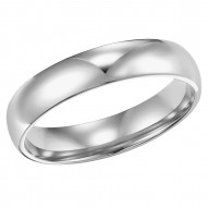Goldman Comfort Fit Wedding Band 4mm, 14k White Gold