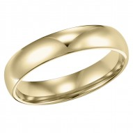Goldman Comfort Fit Wedding Band 4mm, 14k Yellow Gold