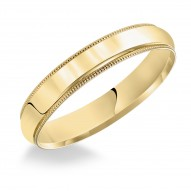 Goldman Comfort Fit Milgrain Edge Wedding Band 5mm, 14k Yellow Gold