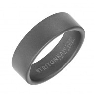 Triton Raw Gray Tungsten Carbide 7MM Raw With Sandblast Finish-Sz 10