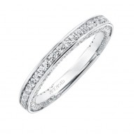 Artcarved Diamond Prong Set Wedding Band