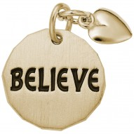 BELIEVE TAG W/HEART