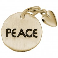 PEACE TAG W/HEART