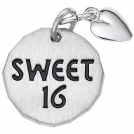 SWEET 16 TAG W/HEART