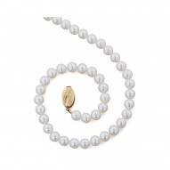 "14K 6+MM White Freshwater Cultured Pearl 18"" Necklace"