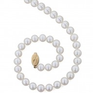 "14K 9+MM White Freshwater Cultured Pearl 18"" Necklace"
