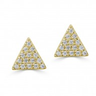 Sachs Signature Triangle Stud Earrings