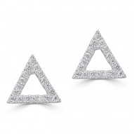 Sachs Signature Open Triangle Earrings
