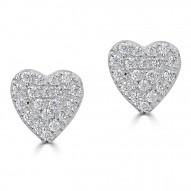Sachs Signature Heart Stud Earrings