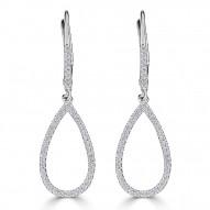 Sachs Signature Pear Earrings
