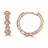 Sachs Signature Multi Shape Huggies Earrings