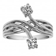 FA217 - Diamond Two Stone Ring