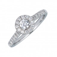 Sachs Signature 1/2CTW Round Halo Engagment Ring