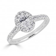 Sachs Signature 1CTW Oval Halo Engagment Ring