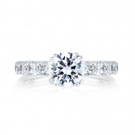 14K White Gold 0.40Ctw Semi Mount With 1.00Ct Head.
