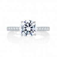 14K White Gold 0.26Ctw Semi Mount With 1.50Ct Head.