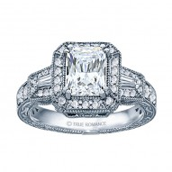 Radiant Diamond Vintage Engagement Ring