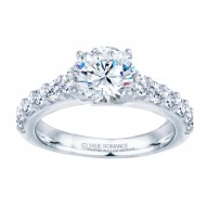 14k White Gold Classic Engagement Ring
