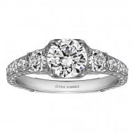 Round Cut Diamond Vintage Engagement Ring