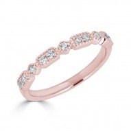 Sachs Signature Stackable Rectangle Ring Rose