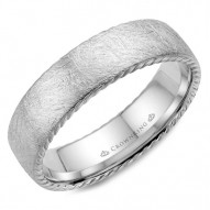CrownRing wedding band with a textured finish and rope detailing.