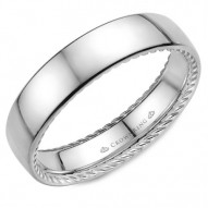 CrownRing wedding band with a polished finish and hidden rope detailing.