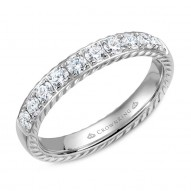 CrownRing wedding band with 10 diamonds and rope detailing.