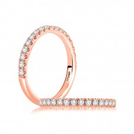 14K Rose Gold  Semi Mount Diamond Wedding Band