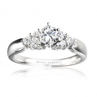 Me278-14k White Gold Engagement Ring From Nostalgic Collection