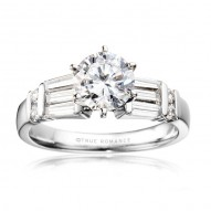 Me361-14k White Gold Engagement Ring From Nostalgic Collection