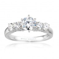 Me515-14k White Gold Engagement Ring From Nostalgic Collection