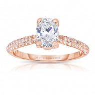 Rm1280vrs-14k White Gold Oval Cut Diamond Engagement Ring