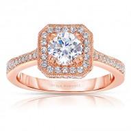 Rm1414r-14k White Gold Round Cut Halo Diamond Engagement Ring
