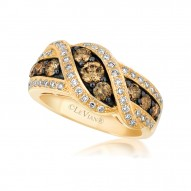 WIMX 2 14k Honey Gold™ RIng with Chocolate Diamondsand Vanilla Diamonds