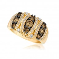 WIMX 8 14k Honey Gold™ RIng with Chocolate Diamondsand Vanilla Diamonds
