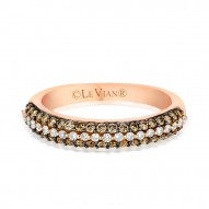 YPVR 254 14k Strawberry GoldRing with Chocolate Diamondsand Vanilla Diamonds