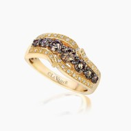 YPVR 4 14k Honey Gold™ Ring with Chocolate Diamondsand Vanilla Diamonds