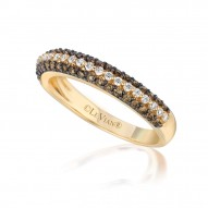 YPVR 74 14k Honey Gold™ Ring with Chocolate Diamondsand Vanilla Diamonds