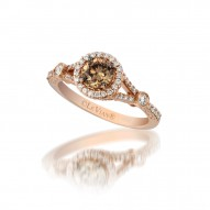 ypwl 46 14k Strawberry GoldRing with Chocolate Diamondsand Vanilla Diamonds