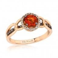 YQEM 35 14k Strawberry GoldNeon Tangerine Fire Opal™ Link
