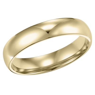 Goldman Comfort Fit Wedding Band 4mm, 14k Yellow Gold
