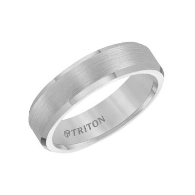 Triton Tungsten Carbide 6MM Comfort Fit Grey - Sz 10.5