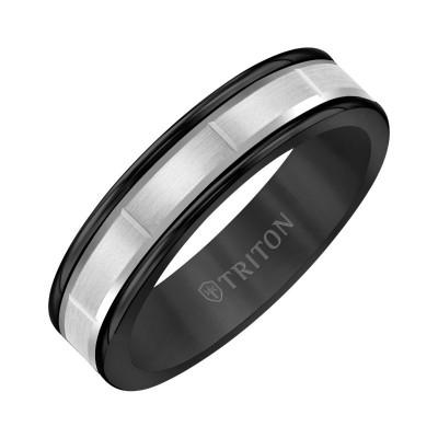 Triton  Black Tungsten(Primary)/14Kw Vertical Cut Insert Band - Sz 10