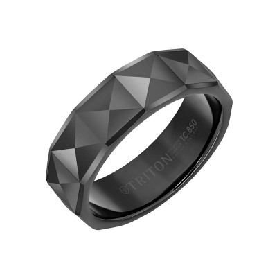 Triton Black Tungsten 7MM Engraved Band - Sz 10