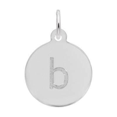 Petite Initial Disc - Lower Case Block B