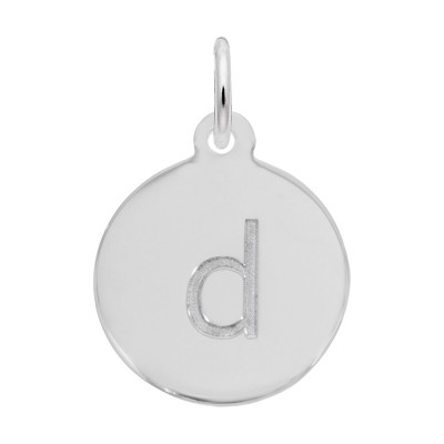 Petite Initial Disc - Lower Case Block D