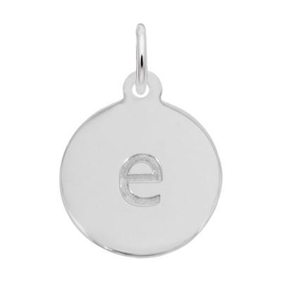 Petite Initial Disc - Lower Case Block E