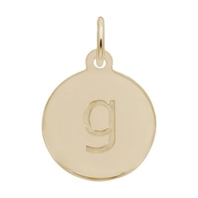 Petite Initial Disc - Lower Case Block G