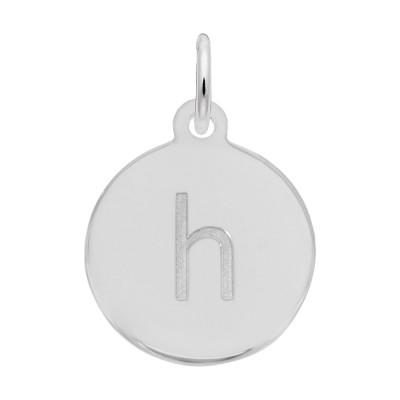 Petite Initial Disc - Lower Case Block H