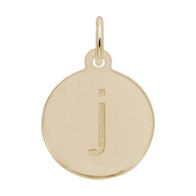 Petite Initial Disc - Lower Case Block J